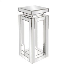 Mirrored Pedestal Table - small
