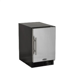 "15"" ADA Height Compact Crescent Ice Machine - Solid Stainless Steel Door - Right Hinge"