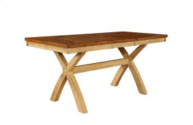 """Quinton X-Leg Gathering Table w/1-18"""" Butterfly Leaf"""