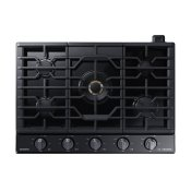 "30"" Gas Cooktop with 22K BTU Dual Power Burner in Matte Black Stainless Steel"