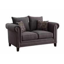 Emerson Transitional Charcoal Loveseat