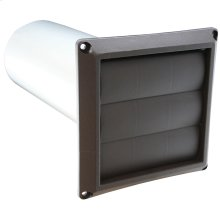 """4"""" Louvered Dryer Vent Hood Assembly, Brown Hood"""