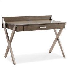 X-Leg Mixed Metal and Wood Laptop Computer Desk #84404