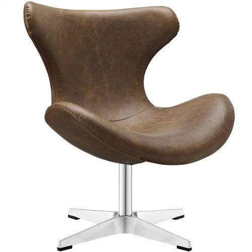 Helm Lounge Chair in Brown