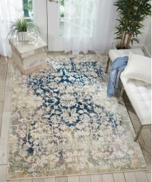 Fusion Fss12 Cream Blue Rectangle Rug 7'10'' X 10'6''