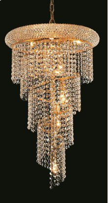 1801 Spiral Collection Hanging Fixture No Neck Gold Finish