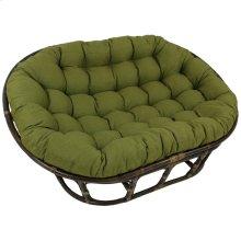 Bali Mamasan Rattan Double Papasan Chair with Solid Outdoor Fabric Cushion - Walnut/Avocado
