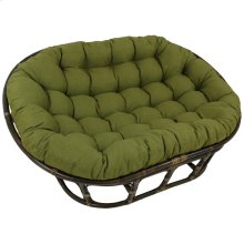 Bali Mamasan Rattan Double Papasan Chair with Solid Outdoor Fabric Cushion - Walnut/Avocado