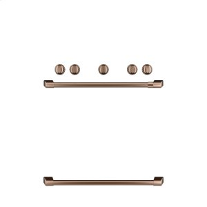 CafeFreestanding Gas Knobs and Handles - Brushed Copper