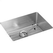 """Elkay Crosstown 16 Gauge Stainless Steel 23-1/2"""" x 18-1/4"""" x 8"""", Single Bowl Undermount Sink Kit"""