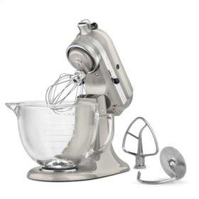 Artisan® Design Series 5 Quart Tilt-Head Stand Mixer with Glass Bowl - Sugar Pearl Silver