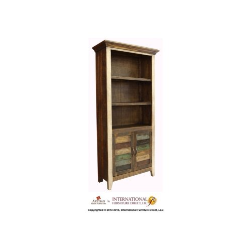 Bookcase w/2 wood doors
