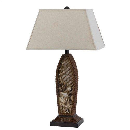 150W Pompano Resin Table Lamp