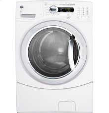 GE® 4.1 DOE cu. ft. stainless steel capacity frontload washer with Steam