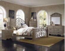 6 PC Bedroom - Queen Bed, Dresser, Mirror, Nightstand