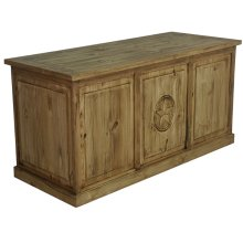 Wood desk with star