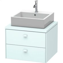Brioso Vanity Unit For Console, Light Blue Matt Decor
