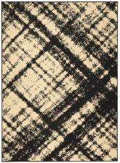 GRAFIX GRF01 CREAM BLACK RECTANGLE RUG 5'3'' x 7'3''