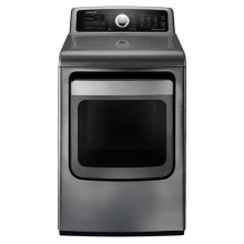 7.4 cu. ft. King-size Capacity Electric Front Load Dryer (Stainless Platinum)