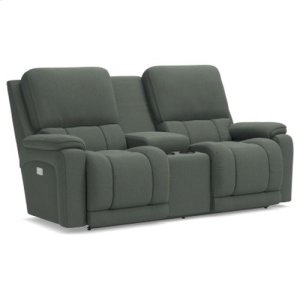 Greyson PowerRecline La-Z-Time® Full Reclining Loveseat w/ Console and Power Headrest