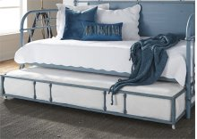 Twin Metal Trundle - Blue