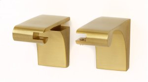 Luna Shelf Brackets A6850 - Satin Brass Product Image