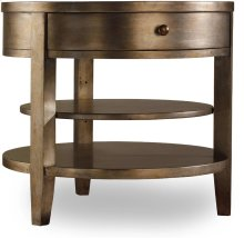 Sanctuary One-Drawer Round Lamp Table - Visage