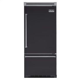 "Graphite Gray 36"" Quiet Cool™ Bottom-Mount Refrigerator/Freezer - VIBB Tru-Flush™ (Right Hinge Door)"