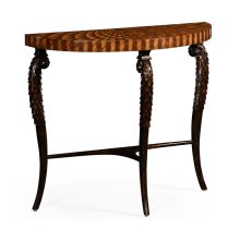 Feather Inlay Hand Carved Console