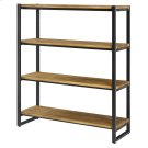 Anderson KD 4 Tier Bookcase, Brown Product Image