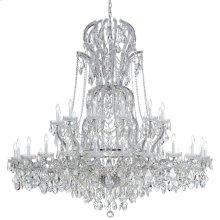 Maria Theresa 37 Light Swarovski Strass Crystal Chrome Chandelier
