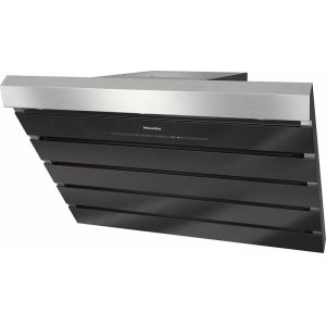 MieleDA 6798 W Shape Wall ventilation hood with energy-efficient LED lighting and touch controls for simple operation.