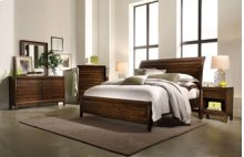 Walnut Park Queen Sleigh Bed