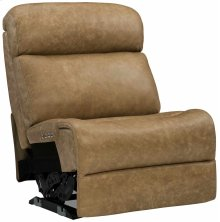 Evan Armless Power Motion Chair in #44 Antique Nickel
