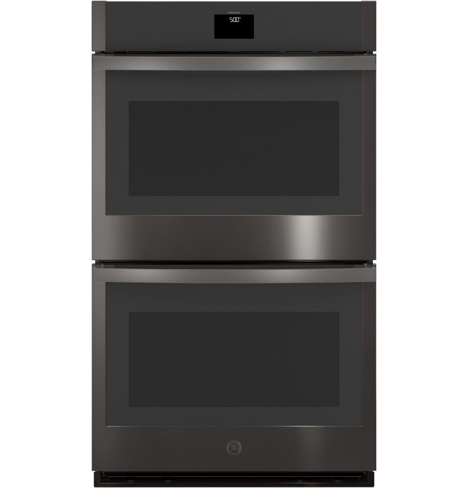 """GE(R) 30"""" Built-In Convection Double Wall Oven  BLACK STAINLESS"""