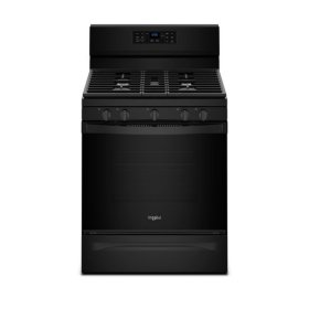 Whirlpool® 5.0 cu. ft. Freestanding Gas Range with Fan Convection Cooking - Black