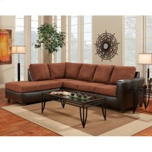 Exceptional Designs by Flash Aruba Chocolate Microfiber L-Shaped Sectional