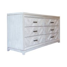 Dresser with 6 Drawers, Available in Rustic Grey or Rustic White Finish.