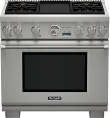 36-Inch Pro Grand Commercial Depth All Gas Range PRG364JDG