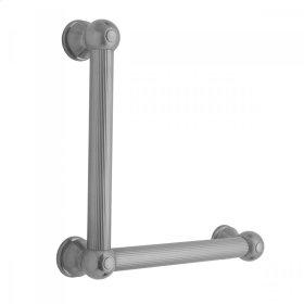 Satin Nickel - G33 12H x 24W 90° Right Hand Grab Bar