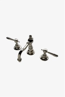 Julia High Profile Three Hole Deck Mounted Lavatory Faucet with Metal Lever Handles STYLE: JULS20