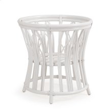 Rattan Round Dining Table Base in White 8850