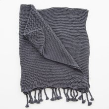 Comfy Knit Throw - Dark Grey