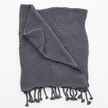 Comfy Knit Throw - Dark Grey
