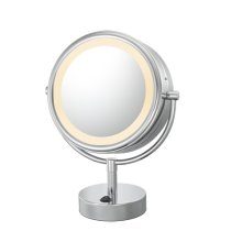 Polished Nickel Double Sided Vanity Mirror