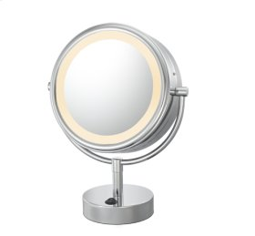 Brushed Nickel Double Sided Vanity Mirror