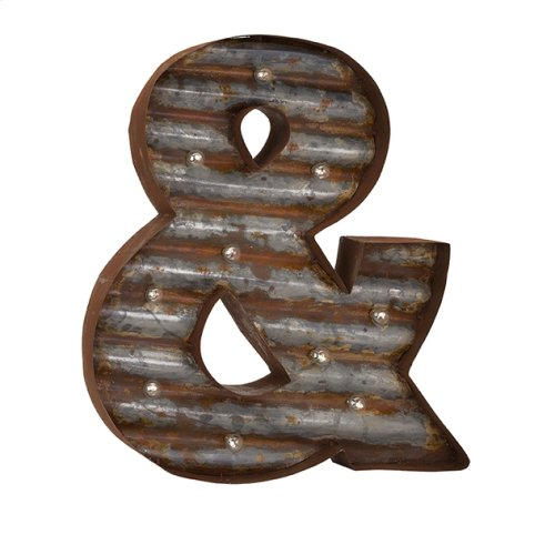 Leah Lighted Ampersand