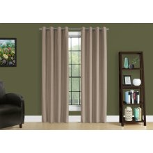 "CURTAIN PANEL - 2PCS / 52""W X 95""H BROWN SOLID BLACKOUT"