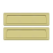 """Mail Slot 13 1/8"""" with Interior Flap - Polished Brass"""