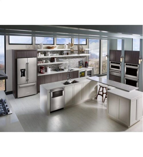 """KitchenAid® 30"""" Double Wall Oven with Even-Heat™ True Convection - Stainless Steel **OPEN BOX**"""